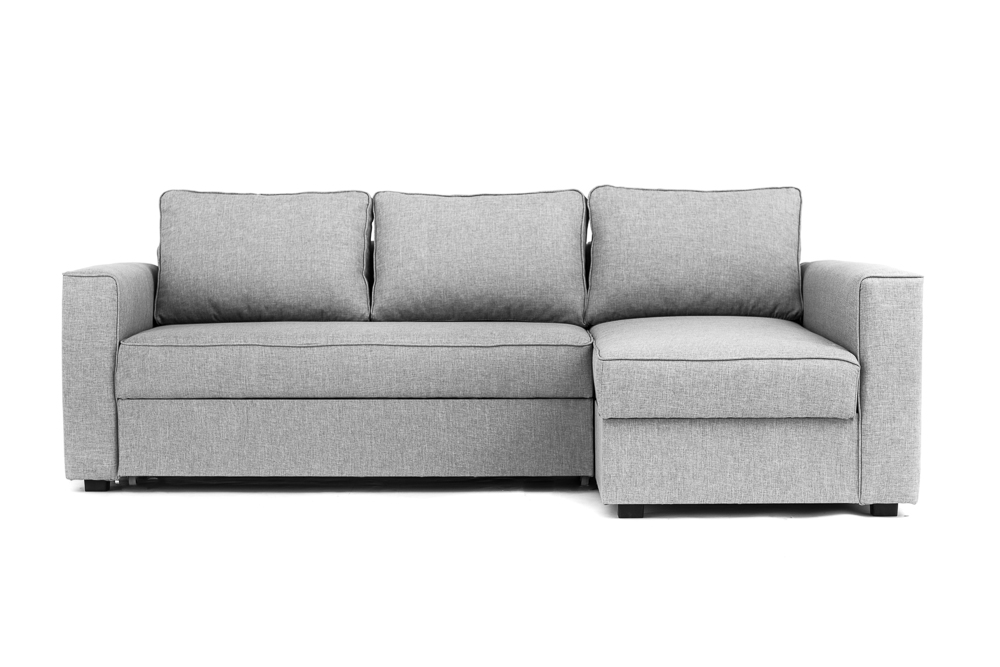 Boston Corner Sofa Bed With Underneath Storage In Grey