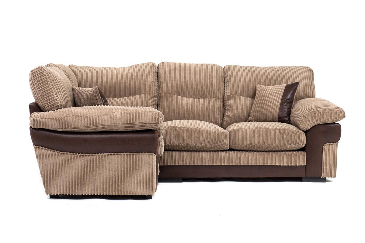 Samson corner 2 3 seater cord chenille fabric sofa for Cord sofa 70er